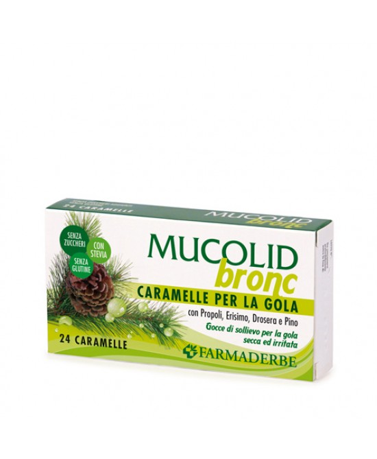 Mucolid Bronc Caramelle Per La Gola 24 Caramelle - FARMAEMPORIO