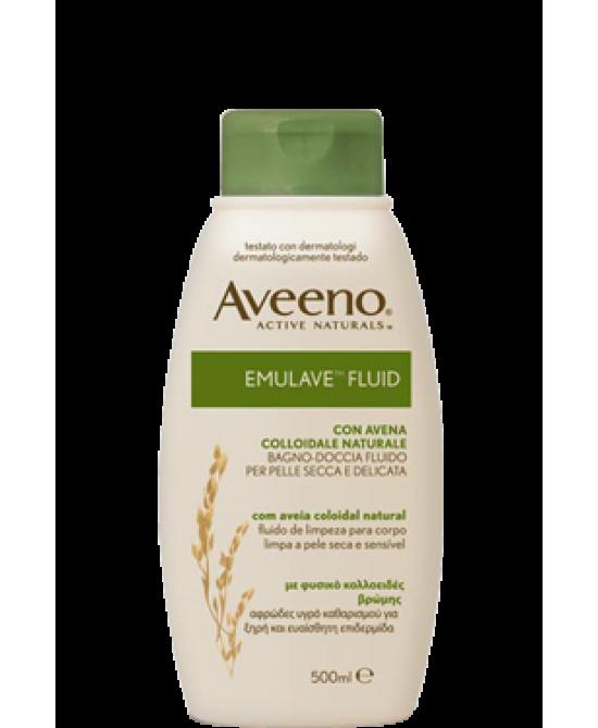 Aveeno Emulave Fluid Bagno-Doccia 500 ml - Antica Farmacia Del Lago