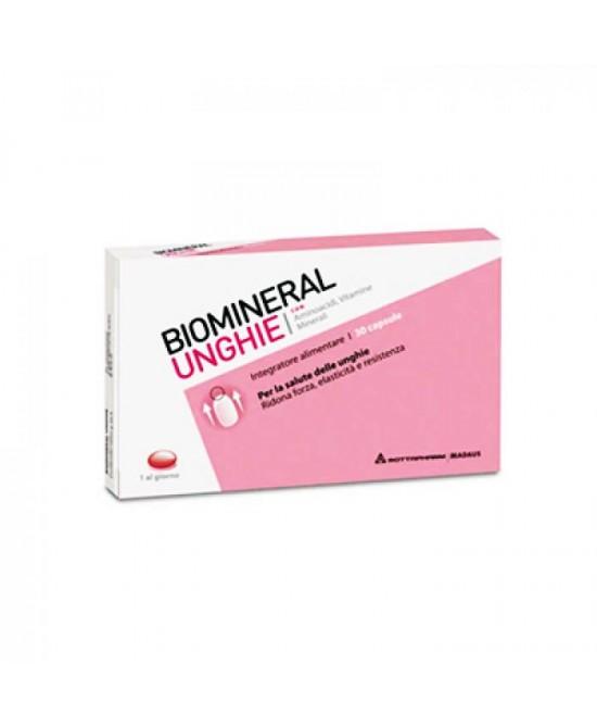 Biomineral Unghie Integratore Alimentare 30 Capsule - Farmaci.me