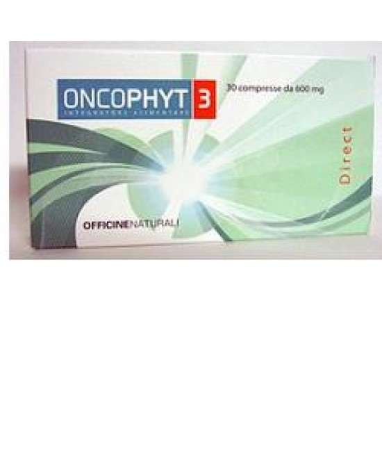 Oncophyt 3 30cpr 600mg - Zfarmacia