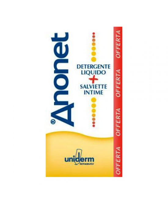 Uniderm Anonet Cofanetto Detergente Intimo 150ml + Salviette Intime 15 Pezzi - Farmafamily.it