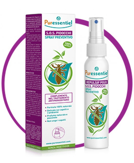 Puressentiel S.O.S. Pidocchi Spray Preventivo 75ml - Zfarmacia