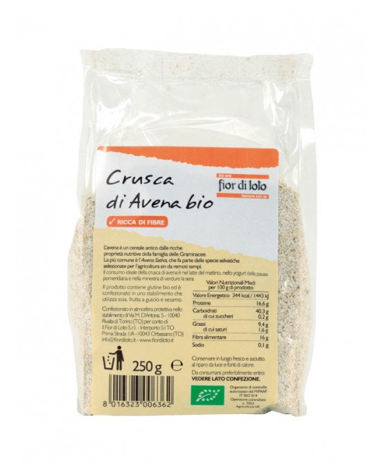 Fior Di Loto Crusca Di Avena Biologico 250G - farma-store.it