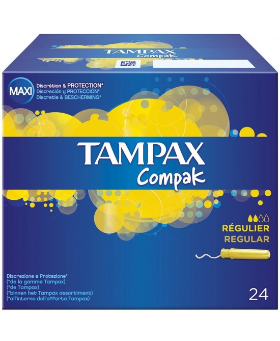 Tampax Compak Regular Tamponi 24 Pezzi - Sempredisponibile.it
