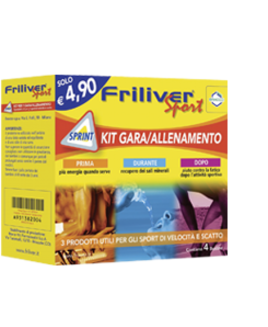 Friliver Sport Kit Sprint Gara/Allenamento 4 Bustine
