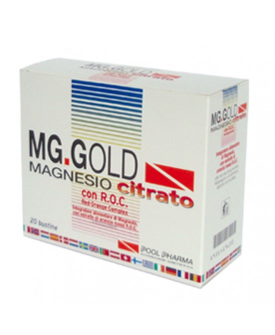 Mg Gold Magnes Citrat 20bust - Farmia.it