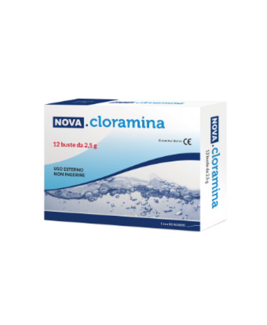 Nova Cloramina Disinfettante 12Bustine 2,5g - Farmafamily.it