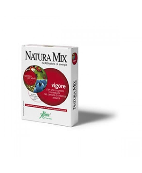Aboca Natura Mix Vigore Concentrato Fluido 10 Flaconcini In Vetro Da 15g