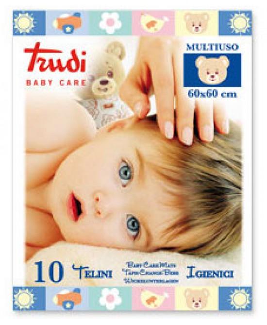 Trudi Baby Care Telino Igienico Multiuso 60x60cm 10 Pezzi - Farmafamily.it