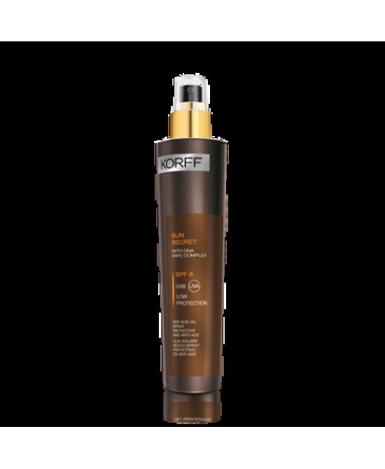 Korff Sun Secret Olio Solare Secco Spray Protettivo Anti-Age SPF 6  125ml - Farmabellezza.it
