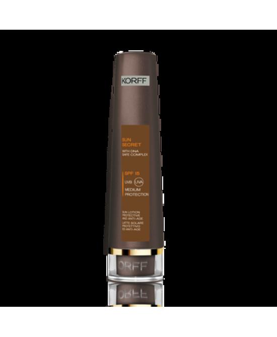 Korff Sun Secret Latte Solare Protettivo E Anti-Age SPF 15 100ml - Farmabellezza.it