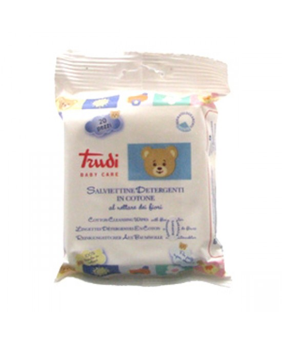 Trudi Babycare Salviettine Detergenti Al Nettare Dei Fiori 20 Pezzi - Zfarmacia