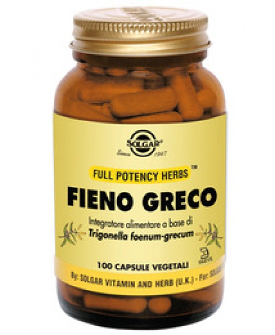 Solgar Fieno Greco Mso 100 Capsule Vegetali - La farmacia digitale