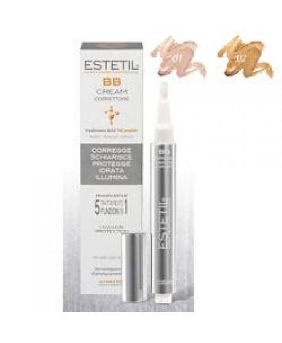 Estetil BB Cream Correttore 5in1 Colore 01 Con Pennellino 2,5 Ml