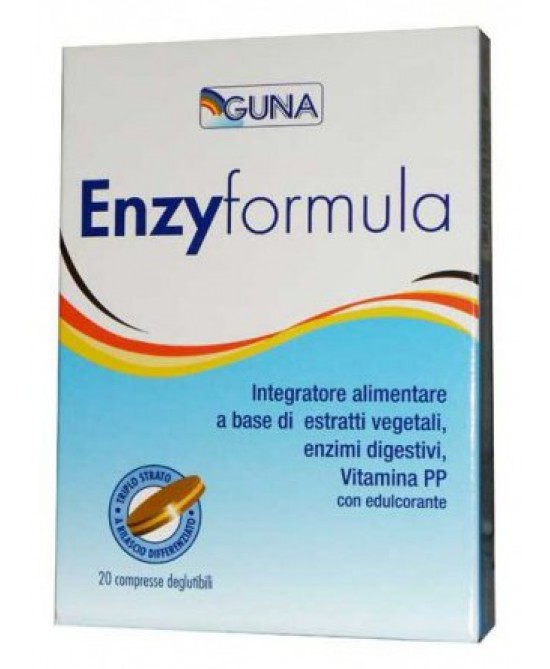 Guna Enzyformula Integratore Alimentare 20 Compresse - Farmaciaempatica.it