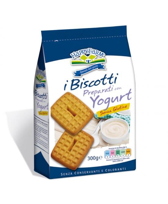 Happy Farm Biscotti Preparati Allo Yogurt Senza Glutine 300g - Antica Farmacia Del Lago
