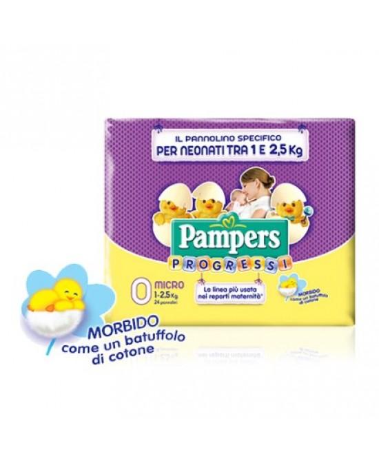 Pampers Progressi Taglia 0 Micro (1-2,5kg) 24 Pezzi - Antica Farmacia Del Lago