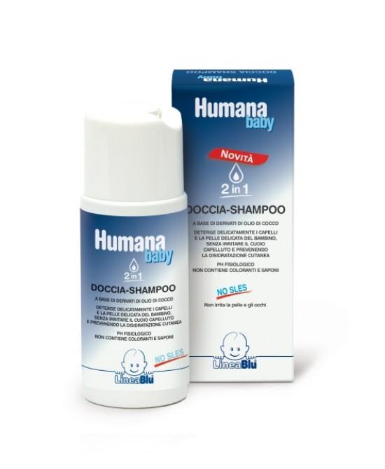 Humana LineaBlu Doccia-Shampoo Con Derivati Di Olio Di Cocco 250ml - La farmacia digitale