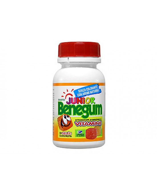 Benegum Junior Gelee Frutta Integratore Multivitaminico 40 Caramelle - Farmajoy