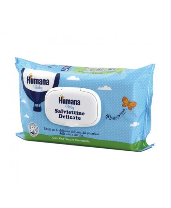 Humana Baby Salviettine Delicate Con Aloe Vera E Camomilla 60 Pezzi - Farmabros.it
