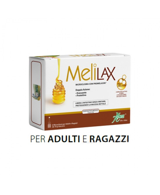 Aboca Melilax Adulti 6 Microclismi Monouso Da 10g - Farmaciaempatica.it