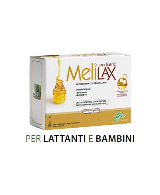 Aboca Melilax Pediatric 6 Microclismi Monouso Da 5g - Farmaciaempatica.it
