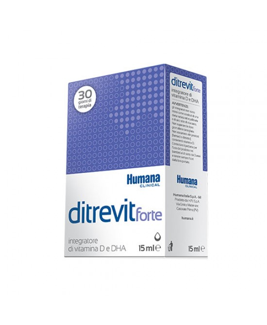Humana Ditrevit Forte Integratore Alimentare Di Vitamina D E DHA 15ml - Farmafamily.it