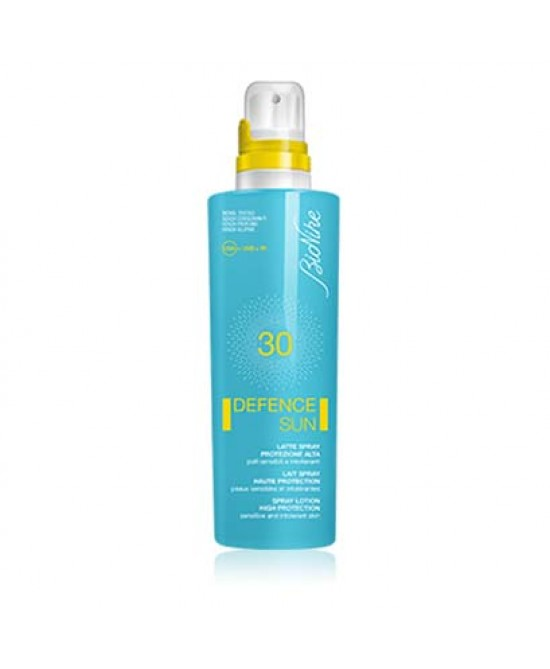 BIONIKE DEFENCE SUN SOLARI LATTE SPRAY SPF 30 PROTEZIONE ALTA 200 ML - Farmastar.it