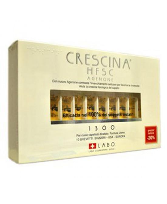 Labo Crescina HFSC Con Agenone Dosaggio 1300 Formato Uomo 10 Fiale