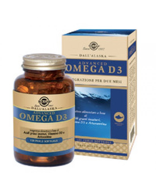 Solgar Advanced Omega D3 120 Perle - Farmaconvenienza.it