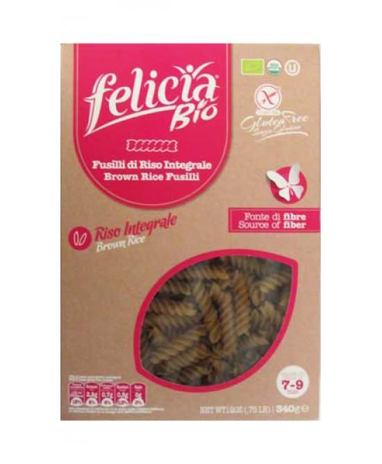 Felicia Bio Pasta Di Riso Integrale Fusilli Senza Glutine 340g - FARMAEMPORIO