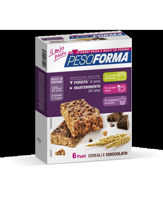 Pesoforma Barrette Ai Cereali E Cioccolato 6 Pasti 12 Pezzi - Farmacistaclick