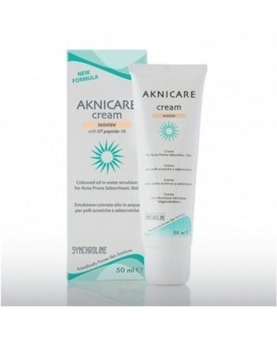 CREMA TRATTANTE COLORATA PER PELLE ACNEICA AKNICARE CREAM TEINTEE CLAIR TUBETTO 50 ML - Sempredisponibile.it