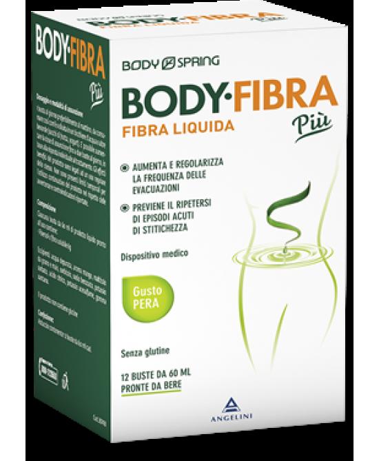 Body Spring Body Fibra Più Gusto Pera 12 Buste Da 60ml - Zfarmacia