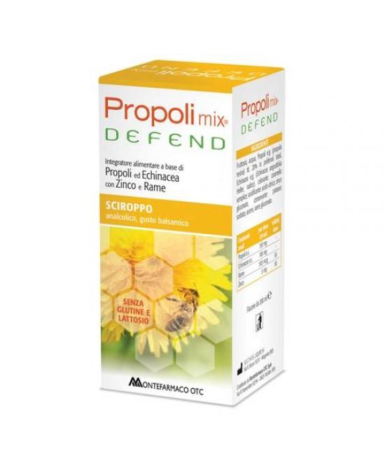 Montefarmaco OTC Propoli Mix Defend Sciroppo Integratore Alimentare Senza Glutine 200ml - Iltuobenessereonline.it