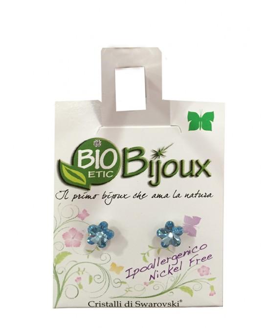 Bioetic Bijoux Orecchino Fiore 6mm Acquamarine - Sempredisponibile.it