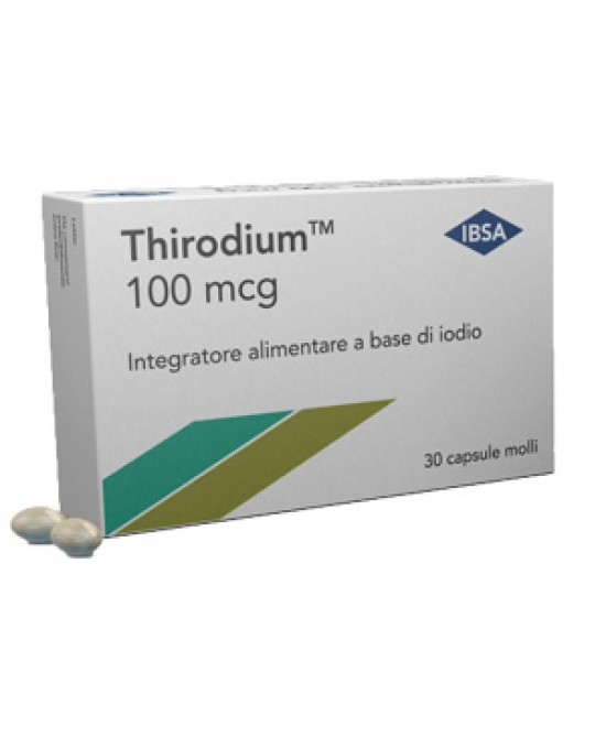 Ibsa Thirodium 100mcg Integratore Alimentare 30 Capsule - Farmawing