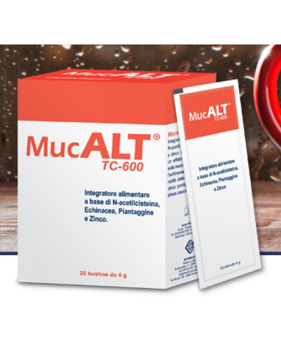 Mucalt TC 600 Integratore Benesse Vie Respiratorie 20 Bustine 4 g