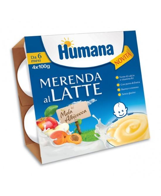 HUMANA MERENDA MELA ALB 4X100G-933799951