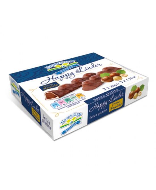 Happy Farm Happy Linder Con Cioccolato Alla Nocciola Senza Glutine 99g