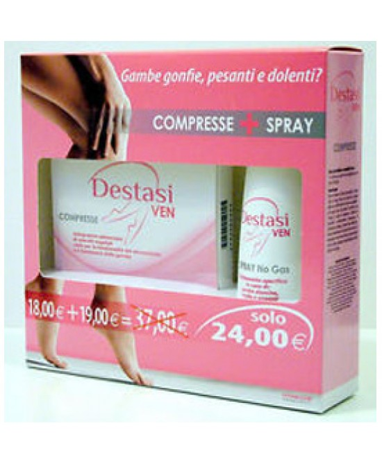DESTASI VEN DOUBLE PACK SPRAY + COMPRESSE - Zfarmacia