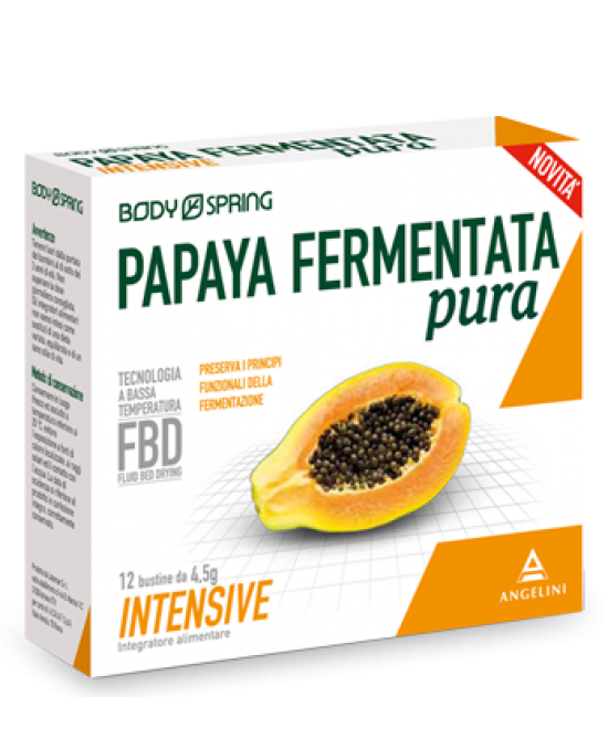 Body Spring Papaya Fermentata Pura Intensive 12 Bustine Da 4,5gr - farmaventura.it