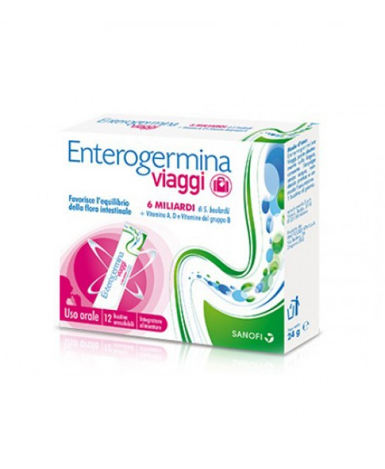 ENTEROGERMINA VIAGGI 12 BUSTINE OROSOLUBILI CONFEZIONE STANDARD - Farmaciacarpediem.it