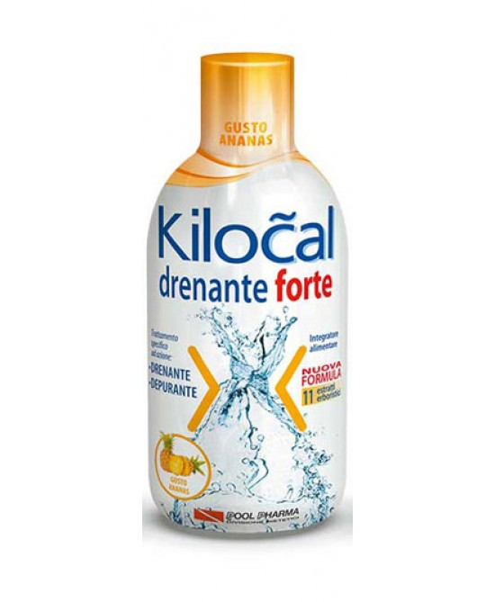 Kilocal Drenante Forte Gusto Ananas Integratore Alimentare 500ml - latuafarmaciaonline.it