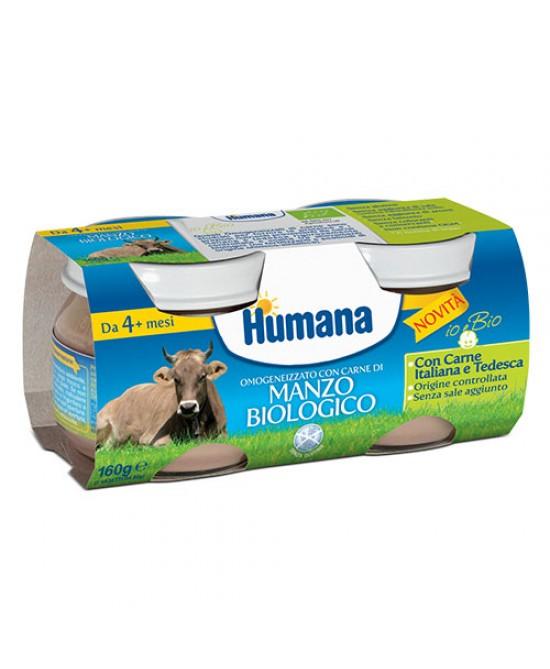Humana Omogeneizzato Con Carne Di Manzo Biologico 2x80g