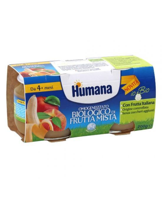 Humana Omogeneizzato Biologico Frutta Mista 2x100g - Iltuobenessereonline.it