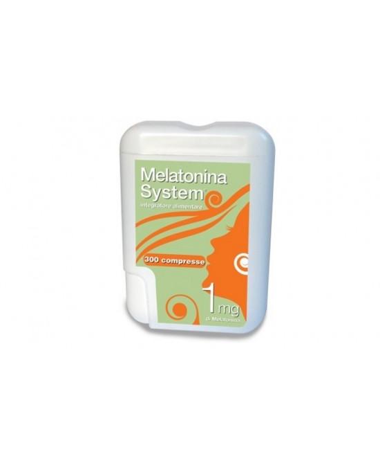 Melatonina System Integratore Alimentare 300 Compresse 1mg - Zfarmacia