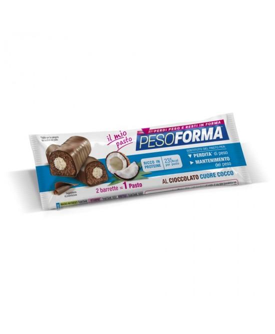 Pesoforma Barrette al Cioccolato Cuore Gusto Cocco 1 Pasto 2 Barrette - Farmaunclick.it