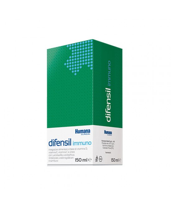 Humana Difensil Immuno Integratore Alimentare A Base Di Vitamina D Vitamina E e Zinco 150ml - La farmacia digitale