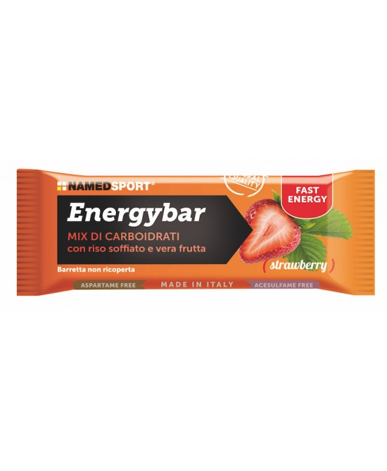 NamedSport Energybar Strawberry Integratore Alimentare Barretta 35g - Farmastar.it